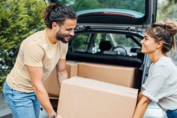déménagement avec avec l'aide